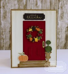 Give Thanks Card by Melody Rupple #Cardmaking, #Thanksgiving, #Fall, #EmbossingFolders, #LittleBitsDies, #TE, #ShareJoy
