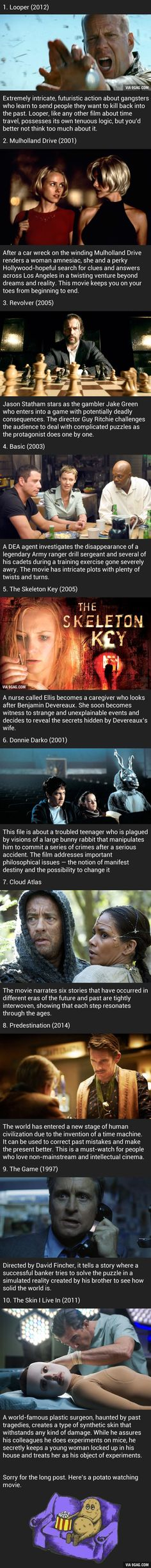 10 Movies That Will Rack Your Brain. Some Are Less Known But Still Awesome