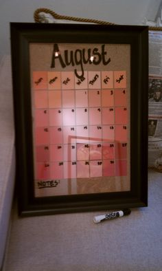 Chet Pourciau Design: DIY Calendar from an Old Picture Frame and Paint Chips