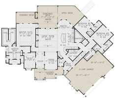 House Plan - Craftsman Plan: Square Feet, 3 Bedrooms, Bathrooms - New Ideas Best House Plans, Dream House Plans, House Floor Plans, My Dream Home, Dream Houses, Sims, Murphy Bed Plans, Craftsman House Plans, Arquitetura