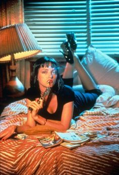 Uma Thurman. Pulp fiction <3 her <3 the flim !!