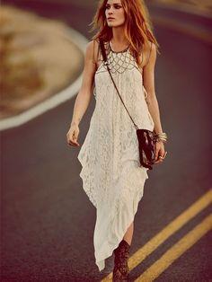 flowy dress with body jewelry