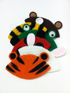 Crochet Animal Baby Beanies