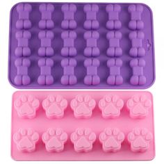 Teckel Ice Cube Tray gel de silice Chien Forme Moule Candy Making Gélatine Setting