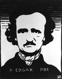 """Edgar Allan Poe"", 1894, Felix Vallotton, Swiss (1865-1925), woodcut on paper, 6 1/4 x 4 7/8 in. Gift of Etta and Claribel Cone, 1950. 1950.1133"