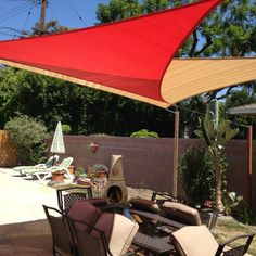 New Shade Sail in the Back yard