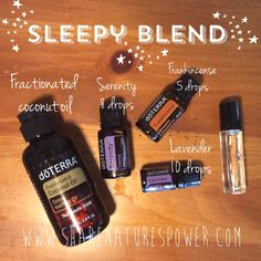 Learn how to make a Sleepy blend roller bottle with doTERRA essential oils and coconut oil. www.sharenaturespower.com