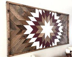 Art mural bois récupéré décoration murale en bois décoration