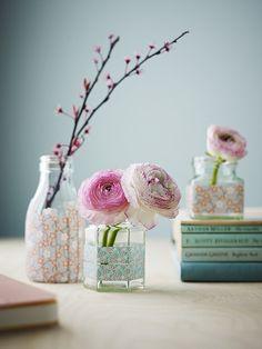 washi-tape on jars