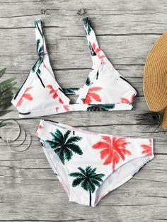 Palm Tree Print Bikini l Polyester l www.CarolinaDesigns.com