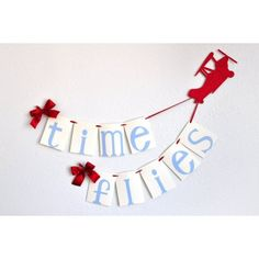Airplane Party Decoration.  Ships in 1-3 Business Days. Time Flies Birthday Banner. - Walmart.com