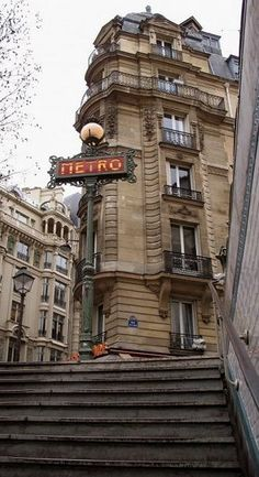 ✮ Metro - St.Michel, Paris, if not on foot (most always) or the Batobus on the Seine (wow…),  the Metor is chic and delivers!