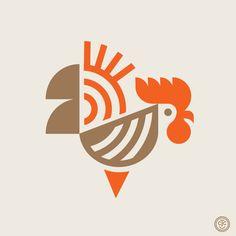 Retro Graphic Design, Graphic Design Illustration, Tile Logo, Logo Branding, Branding Design, Business Branding, Rooster Logo, Chicken Illustration, Chicken Logo