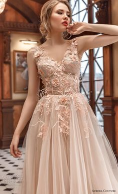 aurora couture 2019 bridal sleeveless with strap v neck heavily embellished bodice bustier tulle skirt romantic blush ball gown a line wedding dress zv -- Aurora Couture 2019 Wedding Dresses Western Wedding Dresses, Luxury Wedding Dress, Cheap Wedding Dress, Designer Wedding Dresses, Shrug For Dresses, Ball Dresses, Ball Gowns, Evening Dresses, Prom Dresses