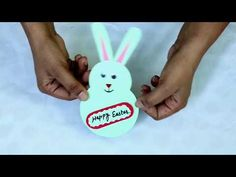 DIY Cute Bunny Card/Easter bunny card/Easter crafts for kids/Easter bunny making card/Cute card Easter Crafts For Kids, Cute Bunny, Cute Cards, Easter Bunny, Circles, Easy Crafts, Card Making, Christmas Ornaments, Holiday Decor