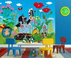 Little Mole Nursery Wallpaper Mural. Eco-Friendly Murals By WallandMore!