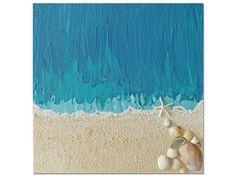 Segredos do Mar  abstrato acrílico com pasta de modelagem Custom Paint, Unique Art, Sea Shells, Abstract Art, My Arts, Display, Traditional, Canvas, Artist
