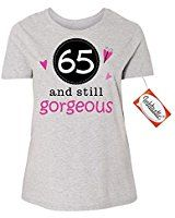 Amazon.com: 65th Birthday Gift Made 1952 All Original Parts Ladies T-Shirt Large Heliconia: Clothing