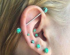 Ear Piercing Stretching Kit 00G-16G Tapers Plug Tunnel Stretcher Black 9C BLCA