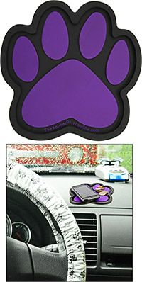 Purple Paw Dashboard Caddy at The Animal Rescue Site. BONUS! 20% of every purchase will be donated to help support the Humane Society of the United States!
