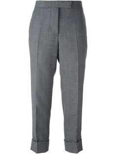 THOM BROWNE cropped tailored trousers. #thombrowne #cloth #trousers