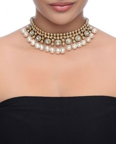 Exclusively.In Kundan Stones Choker Necklace