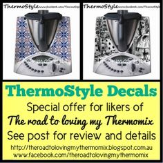 The road to loving my Thermomix: A special discount on ThermoStyle decals for TRTLMT likers! until 5/4/14. 15% discount