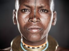 African Tribal Portrait stock photo