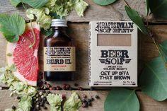Natural Beard Care Kit // Beer Soap & Hops Flower Beard Oil //  Handmade, Vegan, Palm Free // Gifts for Men by CraftsmanSoapCo on Etsy https://www.etsy.com/listing/172883221/natural-beard-care-kit-beer-soap-hops