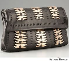 Elie Tahari Amber Feather-Light Leather Clutch, Handbag of the Day