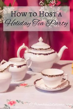 These traditional tea party ideas are awesome! From decor ideas to scone recipes, where to find clotted cream and the type of tea to buy, this covers everything you need to host a successful afternoon tea. #TraditionalTeaParty #AfternoonTea