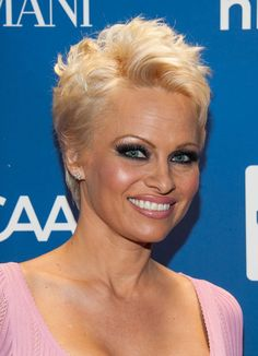 pamela anderson pixie cut | Pamela Anderson at Help Haiti Gala, January 2014