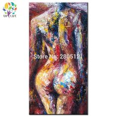 hand painted Modern naked girl oil painting woman back home decoration canvas wall art abstract Human Graffiti body picture stairway decorating -- AliExpress Affiliate's Pin. Offer can be found by clicking the image