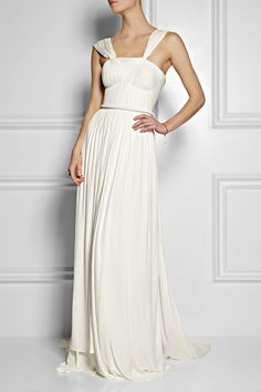 Sophia Kokosalaki Euridice plissé jersey-crepe gown NET-A-PORTER.COM