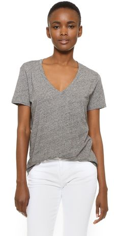 1ee584c45bfee Madewell Whisper Cotton V Neck Pocket Tee