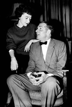Laurence Olivier with Dorothy Tutin during rehearsals for The Entertainer.