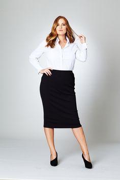 Belle bird Belle Textured Pencil Skirt - Womens Knee Length Skirts - Birdsnest Australia