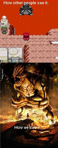 Groudon is scary (but my brother caught it with just a Pokeball, which is pretty sweet).