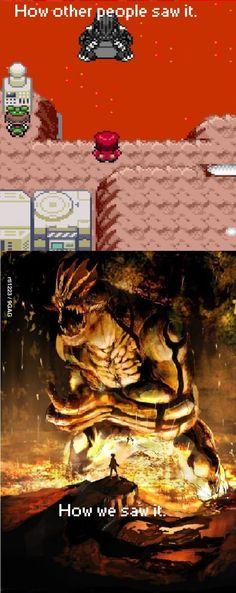 Pokemon. Imagination is everything.