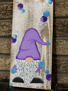 Woodworking For Kids Popsicle Sticks .Woodworking For Kids Popsicle Sticks Woodworking For Kids, Woodworking Workshop, Woodworking Crafts, Woodworking Workbench, Purple Christmas, Christmas Gnome, Christmas Crafts, Gnome Paint, Diy Crafts How To Make