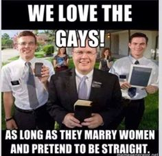 for those who don't recognize the religious zealots - those are Mormons, LDS - aka brainwashed idiots....
