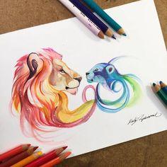 Les dessins danimaux 2D et 3D de Katy Lipscomb Dessein de dessin