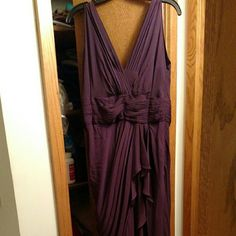 Dark plum gown Has been altered. Needs to be dry-cleaned. Otherwise great condition. Watters Dresses Wedding