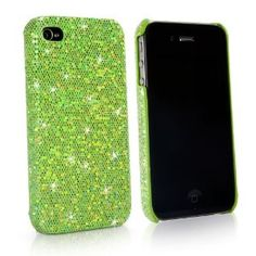 BoxWave Glamour & Glitz iPhone 4 Case - Slim Snap-On Glitter Case, Fun Colorful Sparkle Case for your iPhone 4! - iPhone 4 Cases and Covers (Emerald Green)