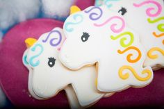 Rainbow Unicorn themed birthday party via Kara's Party Ideas KarasPartyIdeas.com Cake, favors, decor, supplies, food, and more! #rainbowparty #unicornparty #rainbowunicornparty #unicornpartyideas (12)