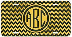 Personalized Monogrammed Chevron Gold Black Car License Plate Auto Tag Top Craft Case http://www.amazon.com/dp/B00LOWP1DO/ref=cm_sw_r_pi_dp_k6otub0FBTC5R