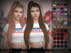Radiant Hair  Found in TSR Category 'Sims 4 Female Hairstyles'