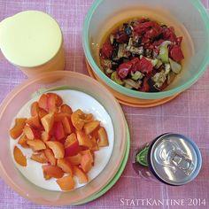 StattKantine 11.08.14 - Backofengemüse, Joghurt mit Obst, Lemonsoda