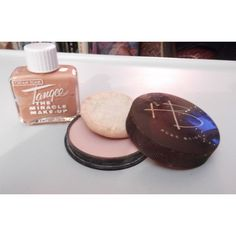 """Vintage 1950s 1960s Tangee """"The Miracle Make-Up"""" Hazel Bishop Pressed... ($18) ❤ liked on Polyvore featuring beauty products, makeup, face makeup, face powder and compact face powder"""