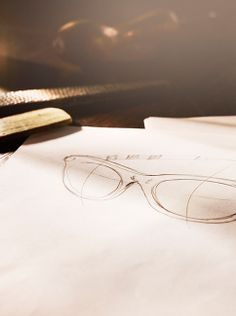 Sketches for handmade designs from The Burberry Trench Eyewear Collection